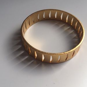 Madewell large brass cut out bracelet